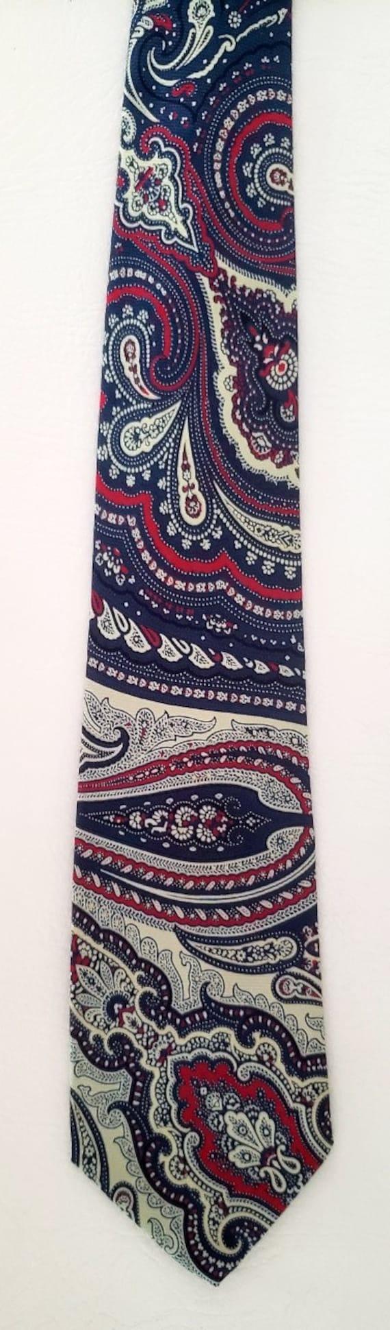 Polo neck tie bold paisley silk Ralph Lauren 1980s - image 3