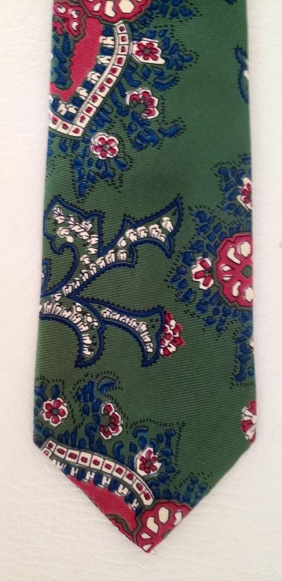 Polo neck tie hunter green silk Ralph Lauren 1980s - image 4