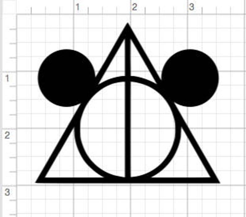 60129755c99 Mickey Mouse Ears Deathly Hallowed Harry Potter Disney Mash up