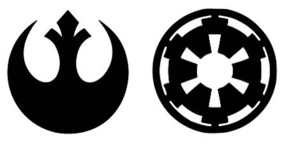 Star Wars Black Vinyl Computer Decal Set Of Two Rebel Alliance Etsy