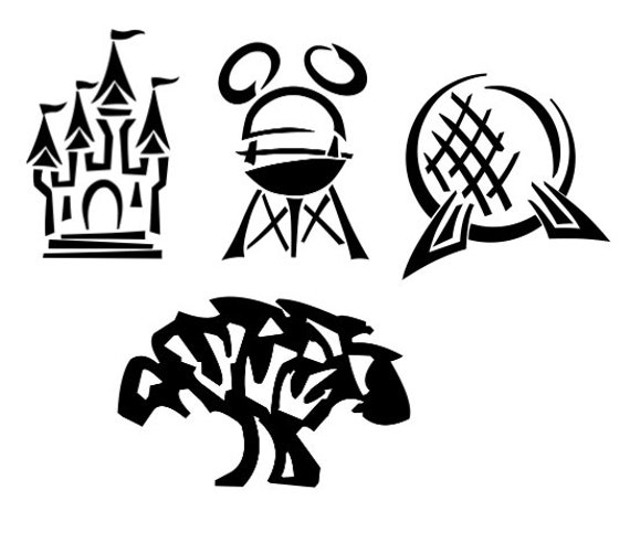 Disney Parks Vinyl Decals For Computers Laptop Phone Car Etsy