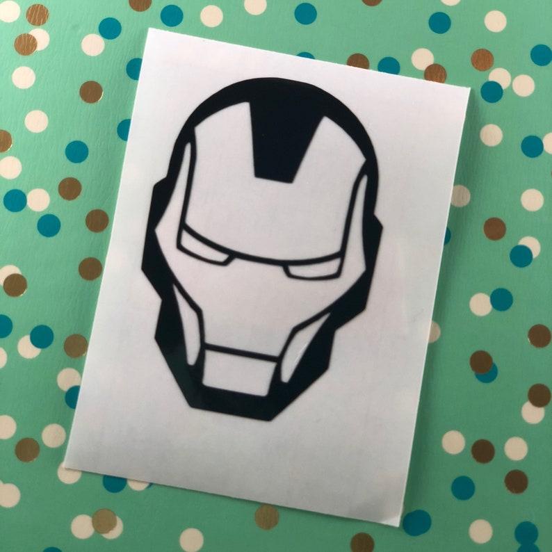 Iron Man Tony Stark Avengers Marvel Black vinyl computer decal phone tablet  laptop iPad sticker
