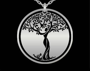 Tree of Life Pendant Necklace 18k Gold or Sterling Silver