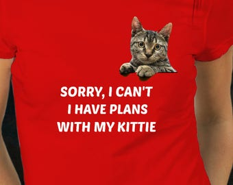 I Have Plans With My Cat Tee Shirt