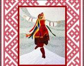 She Dances Applique Art Quilt Pattern