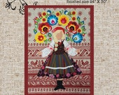 Zoryana Art Quilt Applique Digital Pattern