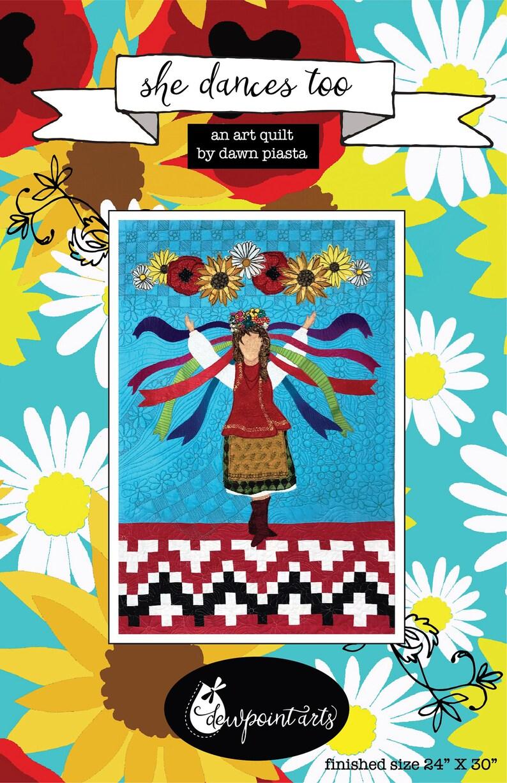 She Dances Too Appliqué Art Quilt Pattern image 0