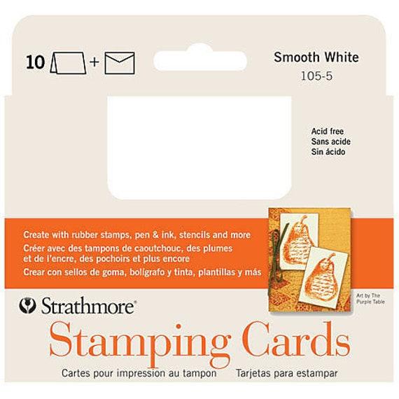 Strathmore Stamping Cards Envelopes Pack Of 10 Etsy