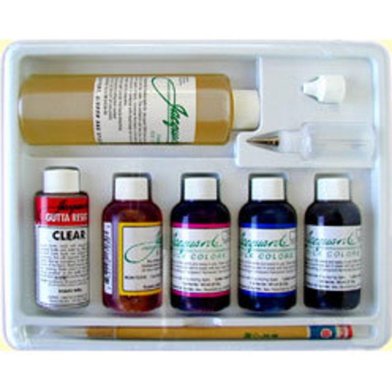 Jacquard Silk Colors Kit with Gutta Resist