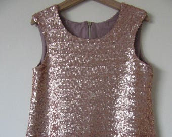 Copper Sequence Dress