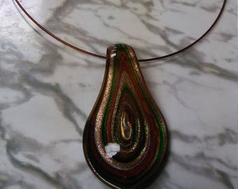 Beaded necklace necklaces swirly multi colored beads