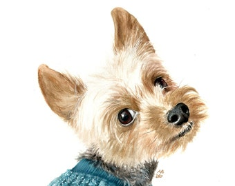 Custom Pet Painting from Photo, Custom Pet Portrait, Hand Painted Dog Portrait, Pet Memorial, Personalized Dog Portrait, Custom Dog Portrait