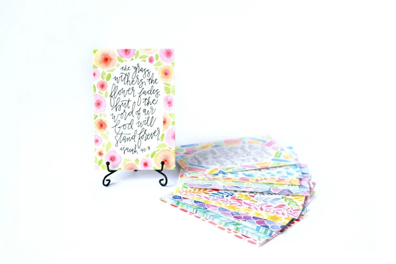 Bible Verse Cards Scripture Verse Cards Memory Verse Cards Cards with Stand