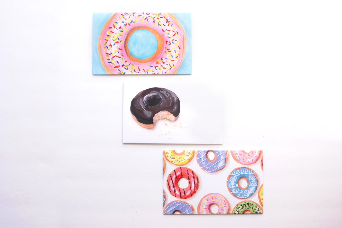 Decorated Envelopes Donut Envelopes Mail Art Envelope Art image 0