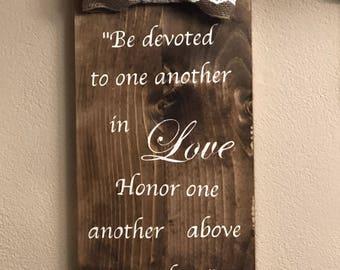 Wedding Wall Art - Romans 12:10