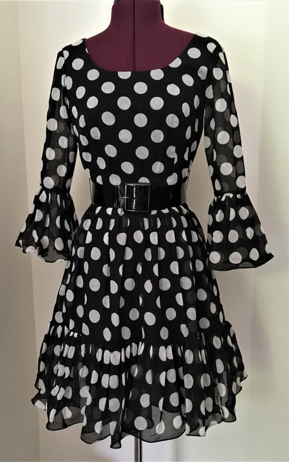 Miss Elliette New Unworn Vintage Dress Black with