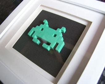 3D Space Invader in Frame