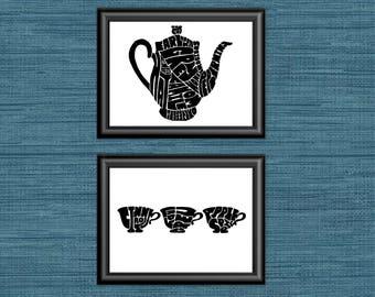 Tea Party- 2 print set