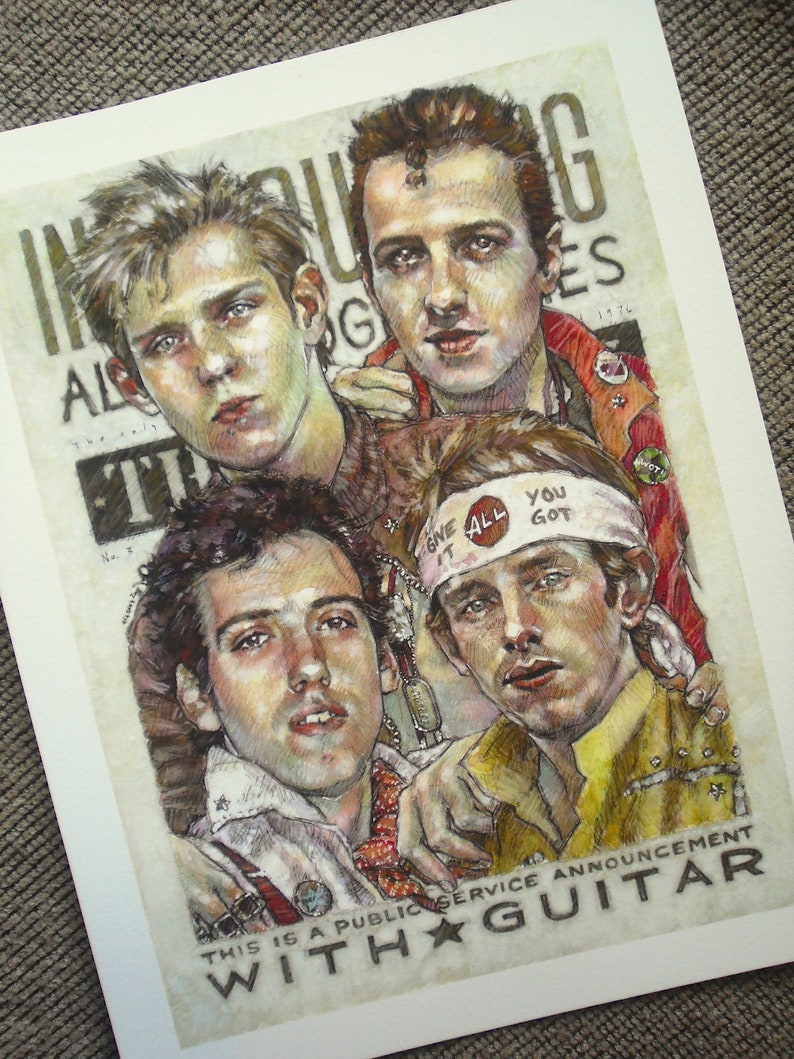 Everybody Hold On Tight  The Clash Giclée Art Print image 1