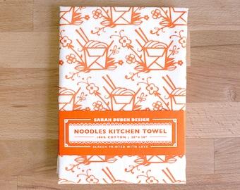 Floral Noodles Towel