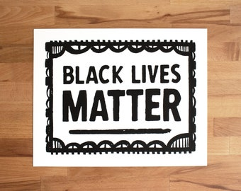 Black Lives Matter Screen Printed Protest Sign