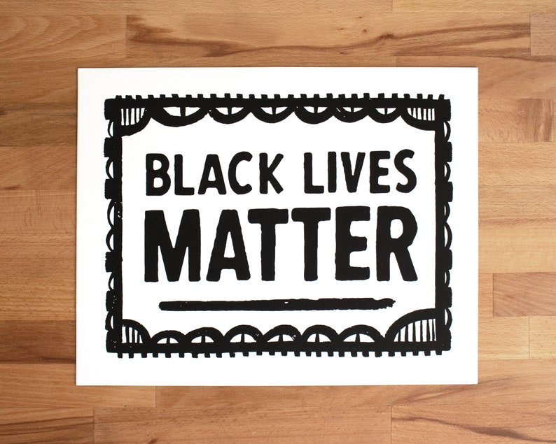 Black Lives Matter Screen Printed Protest Sign image 0