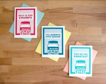 Marshmallow Fluff Greeting Cards