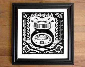 Marmite Screen Print