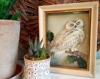 Vintage Paper Owl Wall Art
