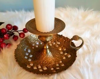 Ornate Brass Candlestick
