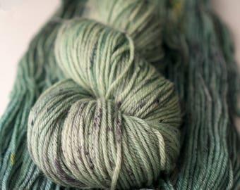 Merino wool - Echoes of Evergreen - Tonal green yarn