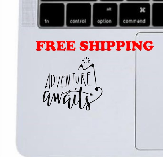 laptops Adventure Awaits Decal for car windows tumblers