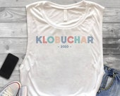 Vintage Amy Klobuchar For President 2020 Democratic Campaign Elections Tank Top