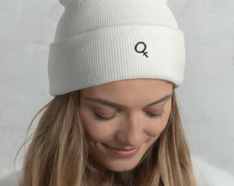 105246d2603 Venus Symbol Female Sign Embroidered Feminist Beanie