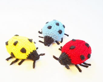 LADYBUG - Knitted Cat Toys, Customizable, Cat Nip optional, High Quality, Durable, Handmade, Cat Toy, Pet Toys, Gift