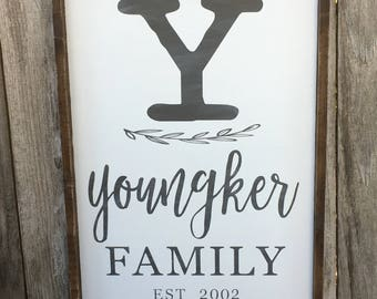 Family Name Wall Sign