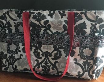 Black and Red Shoulder Bag MTO