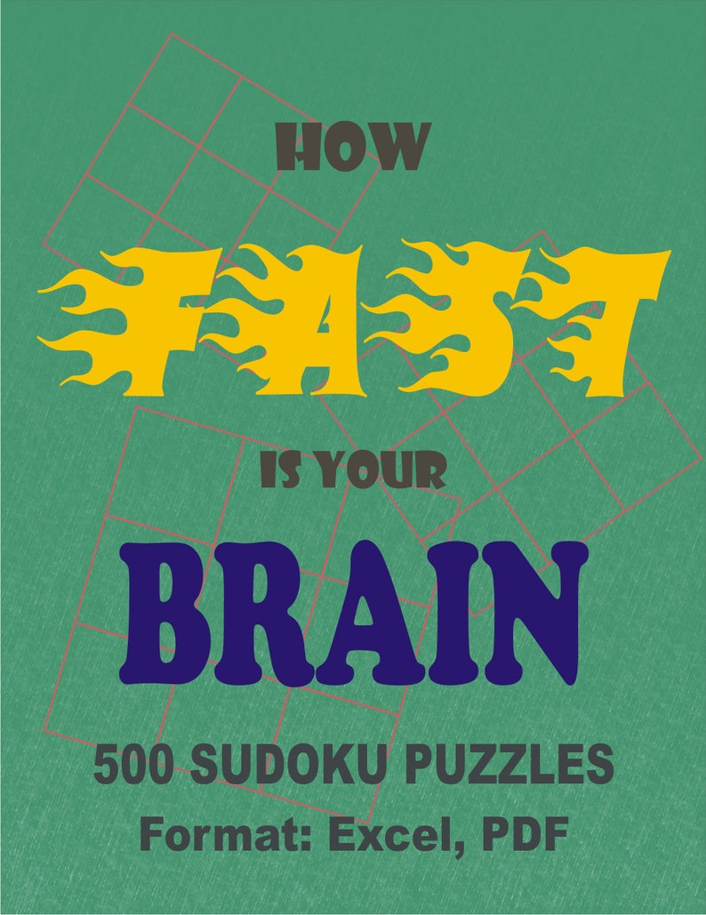 How Fast Is Your Brain 1000 Sudoku Puzzles And Answers Etsy