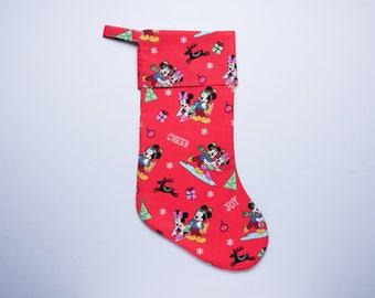 Disney Christmas Stocking Mickey and Minnie Skates
