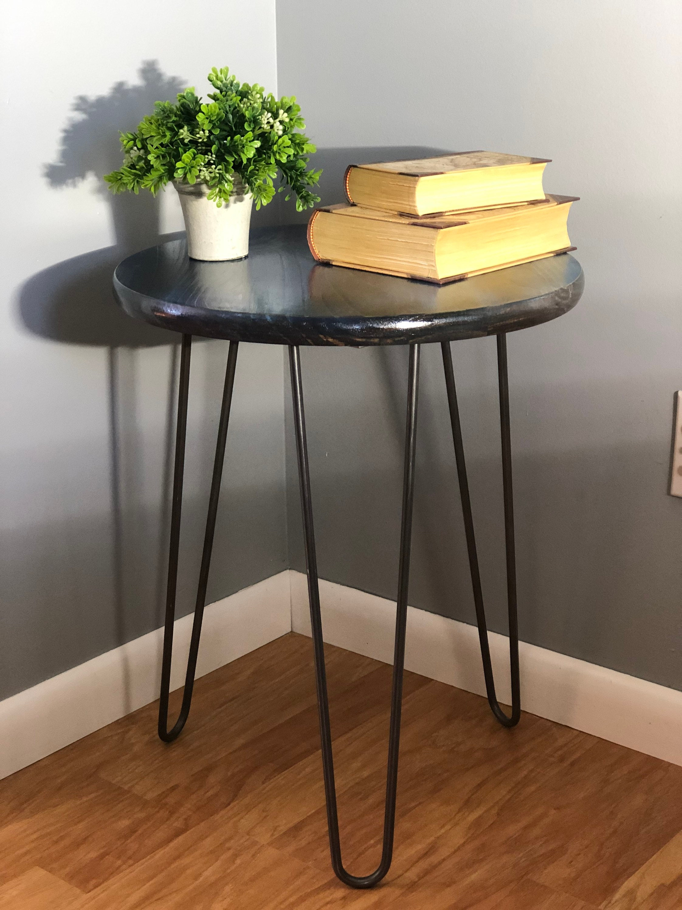 Bright Colored Rustic Modern End Table