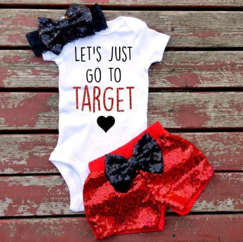 e6d1ba0a6 Let's Just go to Target Shirt Baby Girl Toddler | Etsy