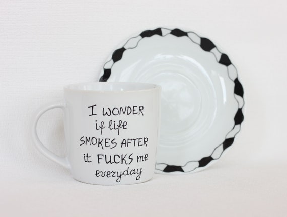 Mugs With Sayings Funny Tea Cups Funny Coworker Gift Tea Etsy