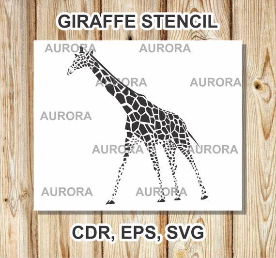 Giraffe Svg African Animal Svg Wildlife Svggiraffe Etsy