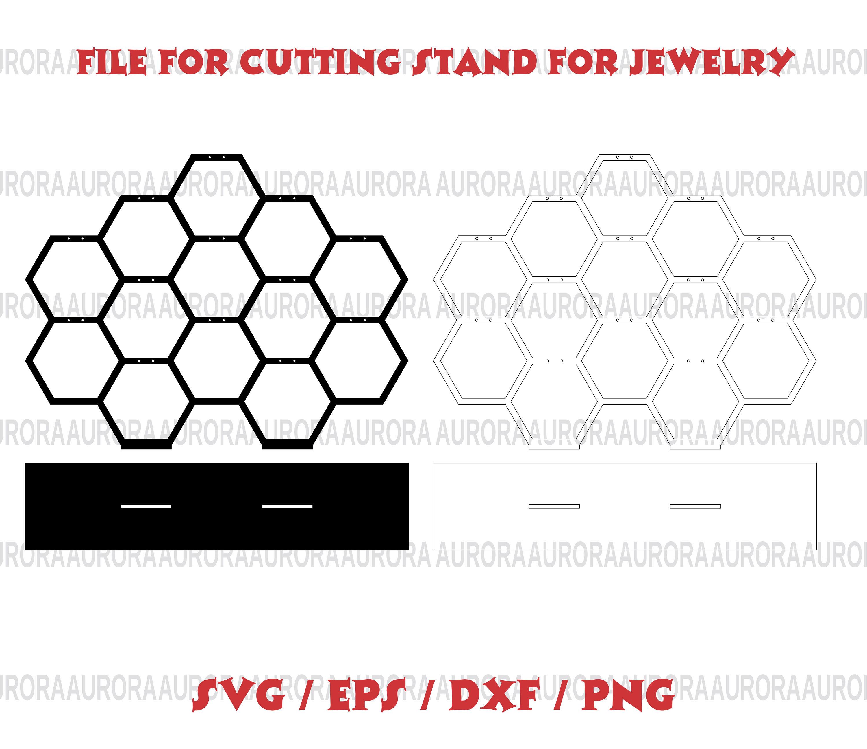 Schmuck lasergeschnittene-Displays SVG Vektor CNC-Datei für | Etsy