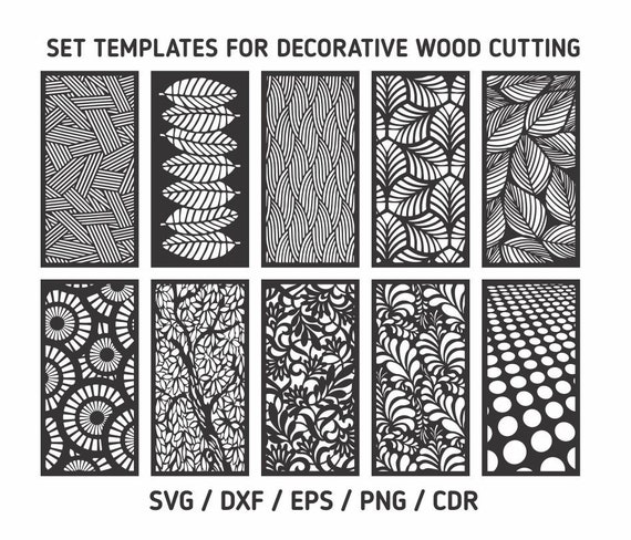 Laser cut vector Cutting templates svg templates for | Etsy