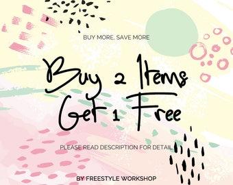 FreestyleWorkshop Promotion: Buy 2 Items Get 1 Free