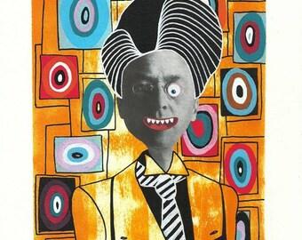 Original illustration, painting and collage, Kandinsky