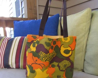 70's Inspired Retro Tote Bag