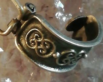 Vintage, Antik, Art Deco, Ohrringe, Earrings, Ohrclips, Earclips, Sterling, Silber, Silver, 925, OC76