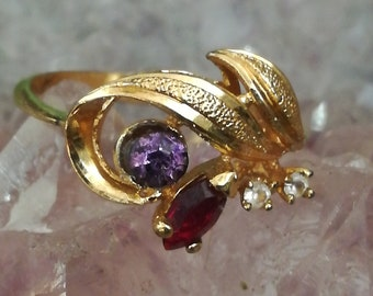Ring, silver, 925, gold plated, gilded, R26